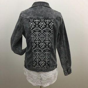 🆕 Black & Gray Denim Jacket